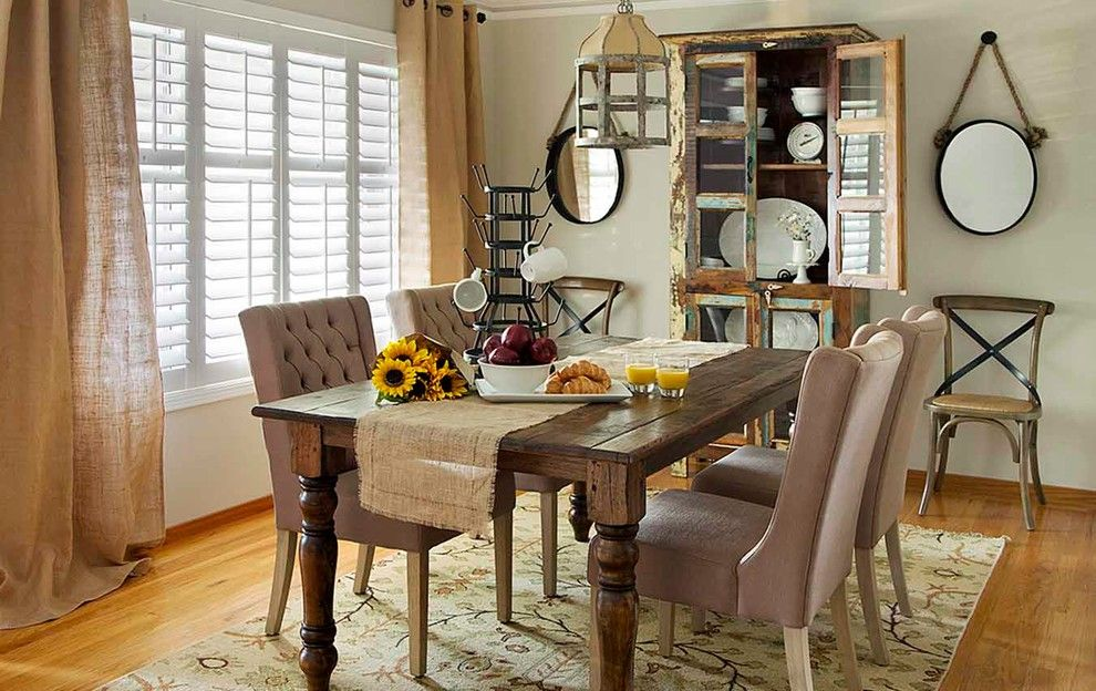 Los Gatos Lodge for a Rustic Dining Room with a Menlo Park and Cottages by Harvest Furniture