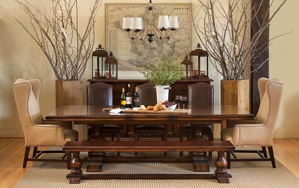 Los Gatos Lodge for a Traditional Dining Room with a Dining Rooms and Wine Country by Harvest Furniture