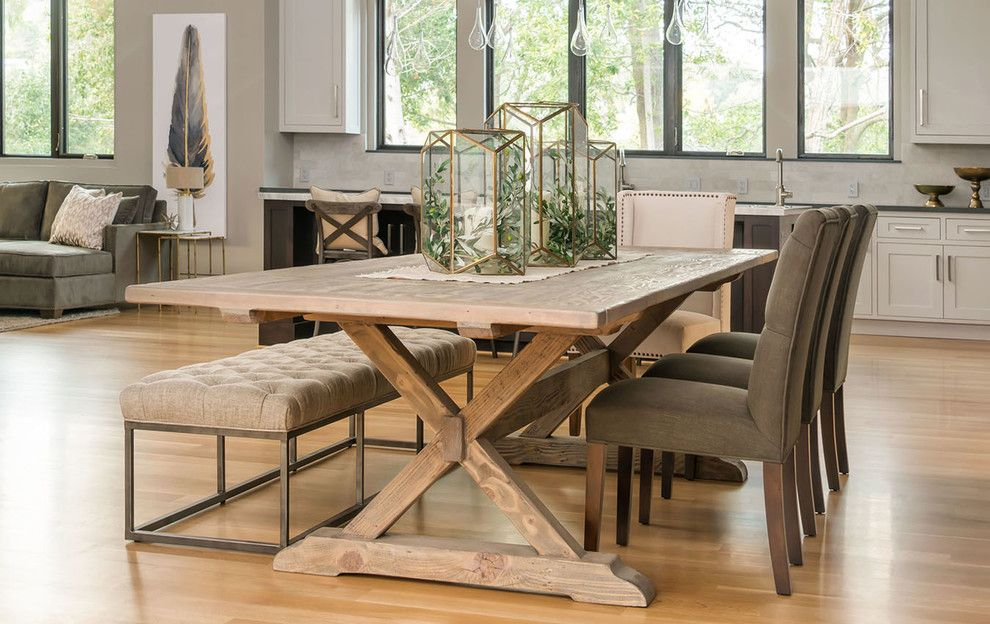 Los Gatos Lodge for a Transitional Dining Room with a Furniture and California Casual Dining by Harvest Furniture