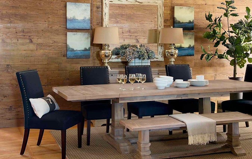 Los Gatos Lodge for a Transitional Dining Room with a Rustic Wood and Lakeside Dining by Harvest Furniture