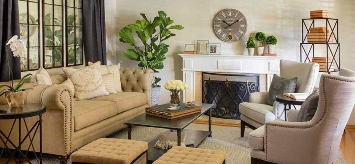 Los Gatos Lodge for a Transitional Living Room with a Wing Chairs and Marche Room by Harvest Furniture