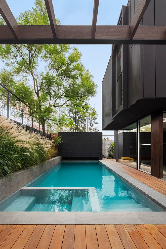 Los Gatos Spa for a Contemporary Pool with a Pools and Hawthorn Pool by the Garden Company