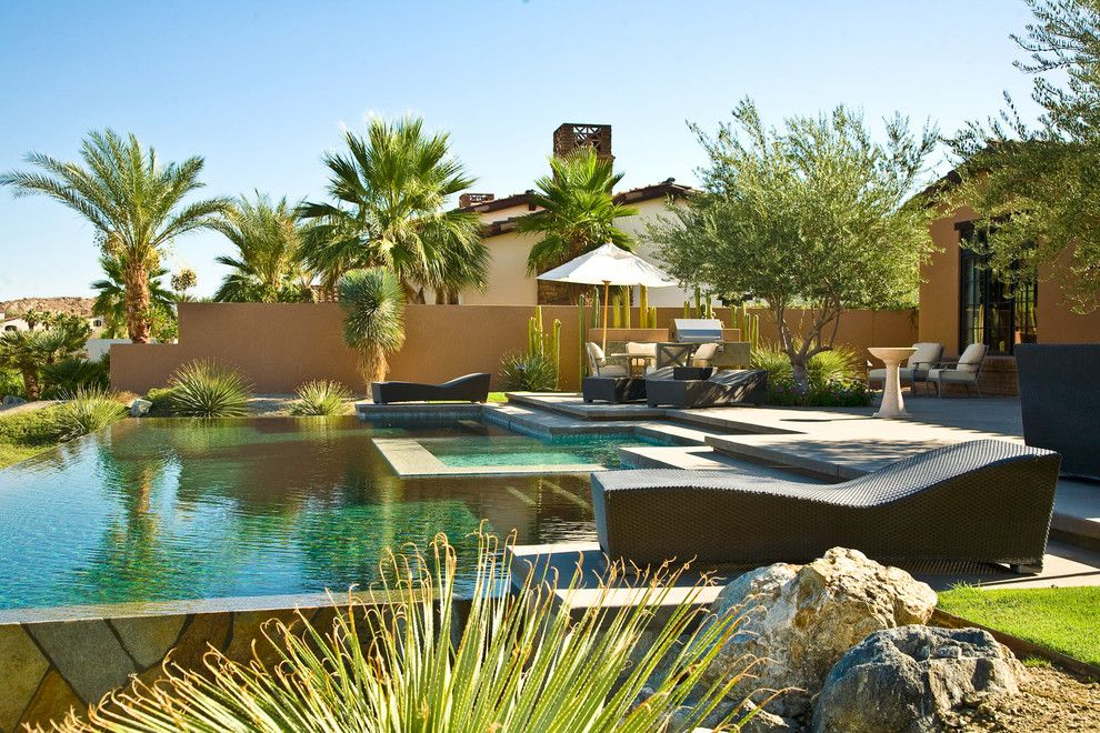 Los Gatos Spa for a Mediterranean Pool with a Garden Wall and Rancho Mirage Villas by Sennikoff Architects, Inc.