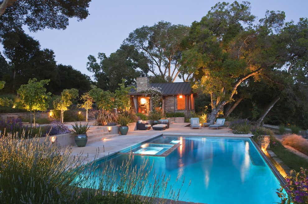 Los Gatos Spa for a Rustic Pool with a Pool and Pool by Arterra Landscape Architects