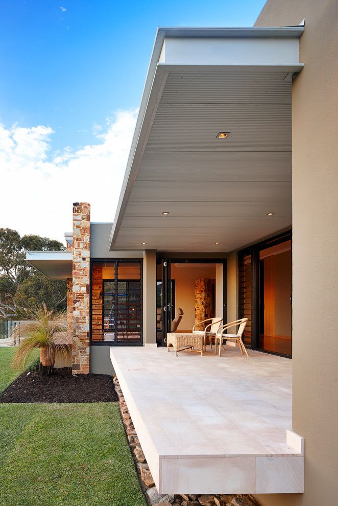 Louvered for a Contemporary Patio with a Paving and City Vista Gooseberry Hill by Westmade Homes
