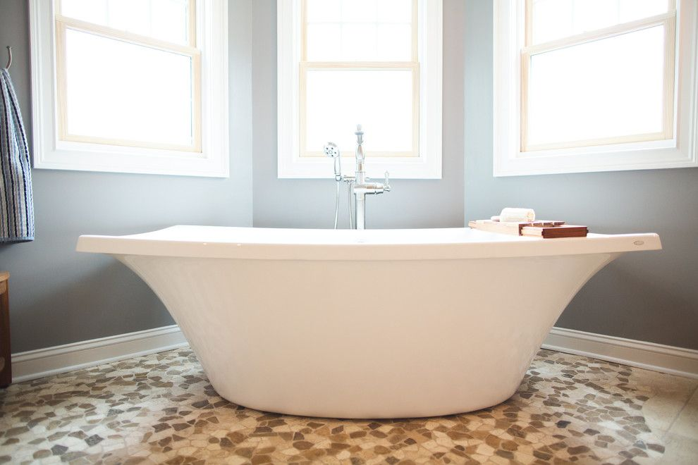 louvered for a eclectic bathroom with a tile design and dream bath by crystal cabinets by