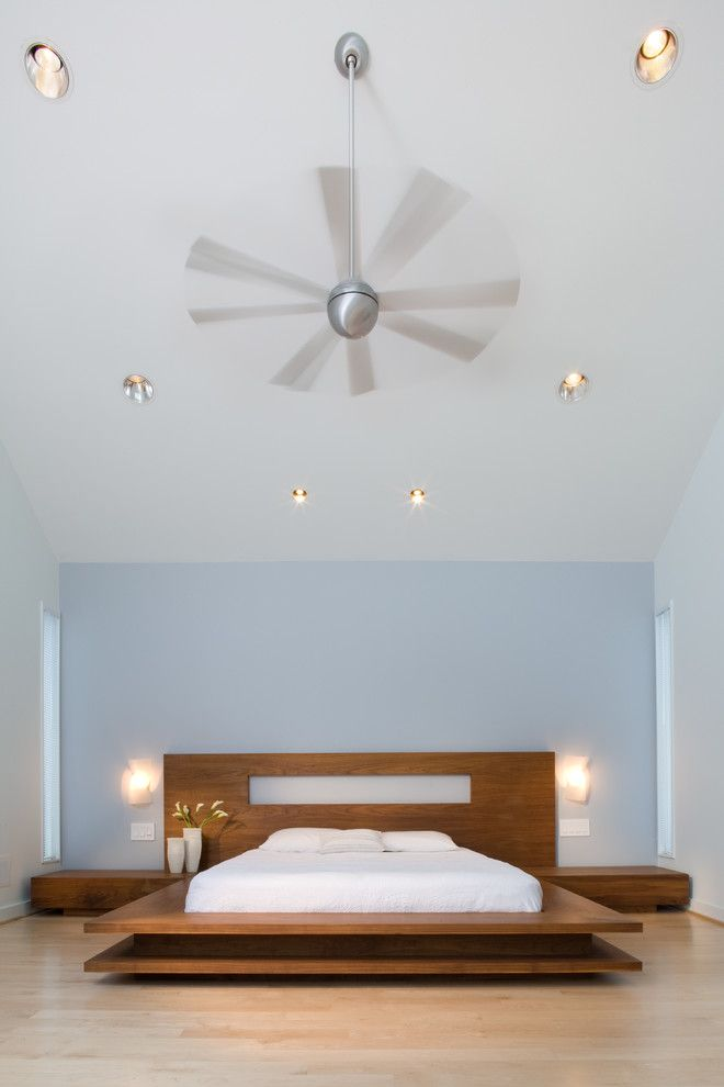 Lowes Alexandria La for a Modern Bedroom with a Ceiling Fan and 1725 Modern Transformation by Morgan Howarth Photography