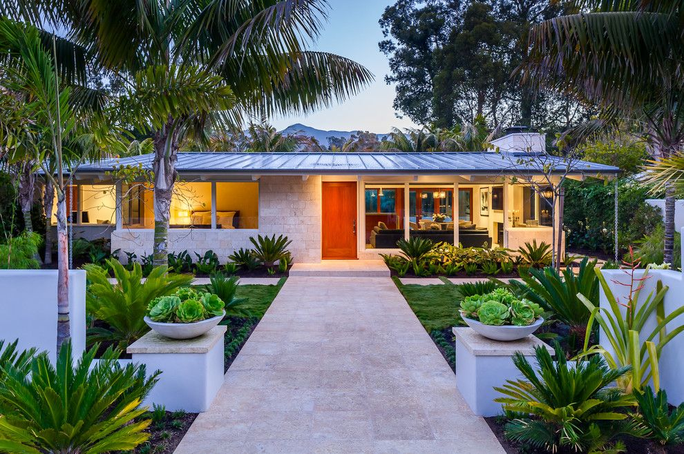 Lowes Bangor Maine for a Midcentury Exterior with a Landscaping and Butterfly Beach Villa by Neumann Mendro Andrulaitis Architects Llp