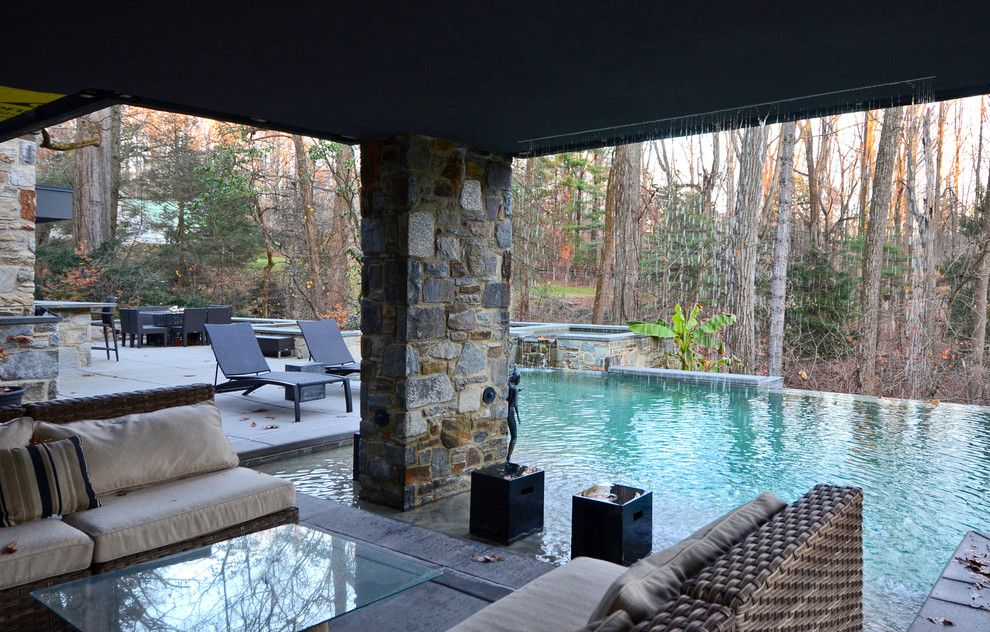 Lowes Bowie Md for a Contemporary Pool with a Seat Cushions and Turner Residence Baltimore Md by Turner Design Firm