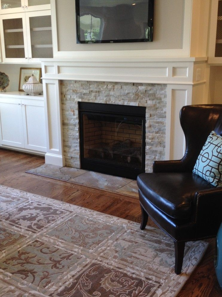 Lowes Bowie Md for a Traditional Living Room with a Fireplace Mantels and Ledger Stones Collection by Best Tile