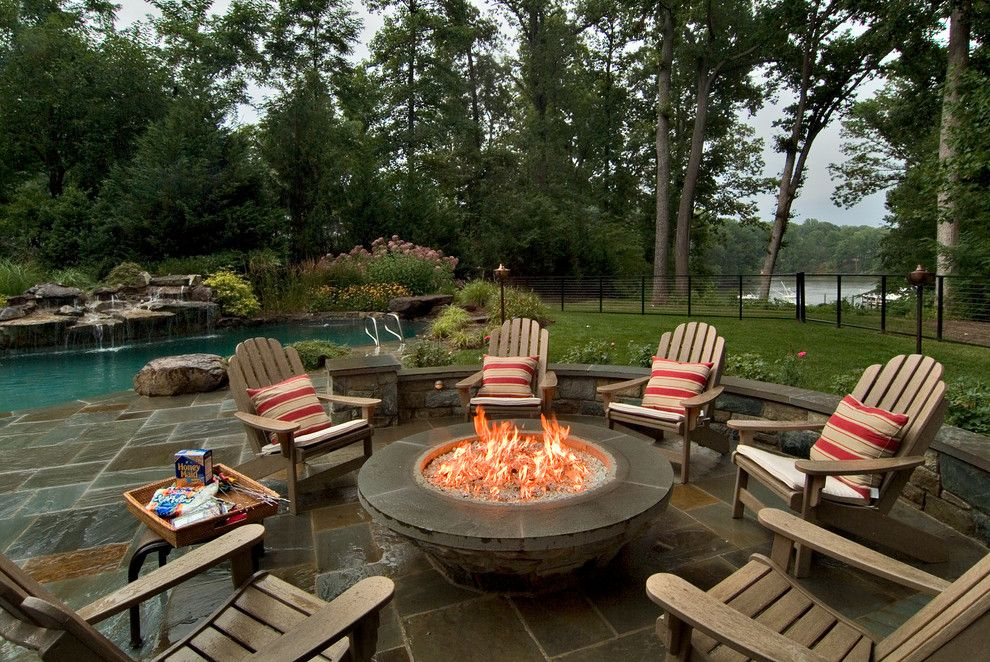 Lowes Bowie Md for a Traditional Patio with a Wood Adirondack Chair and South River Residence by Michael Prokopchak, Asla