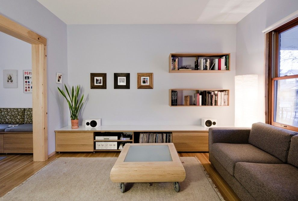 Lowes Building Supply for a Modern Living Room with a Banquette Seating and Bloordale Renovation by Blacklab Architects Inc.