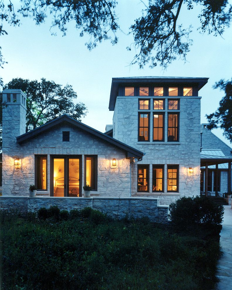 Lowes Building Supply for a Traditional Exterior with a Unique and Lake Austin Residence by Steinbomer, Bramwell & Vrazel Architects