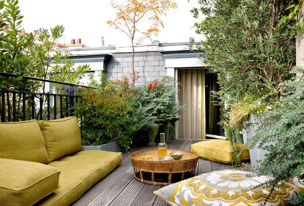 Lowes Building Supply for a Tropical Deck with a Rideaux Occultants Beige Pistache and Exotique Terrasse en Bois Et Balcon by Nicolas Matheus Photographe