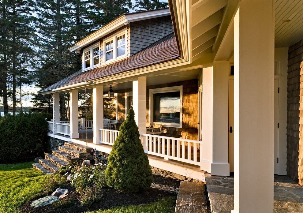Lowes Cedar Rapids for a Beach Style Porch with a Maine and Porch by Whitten Architects
