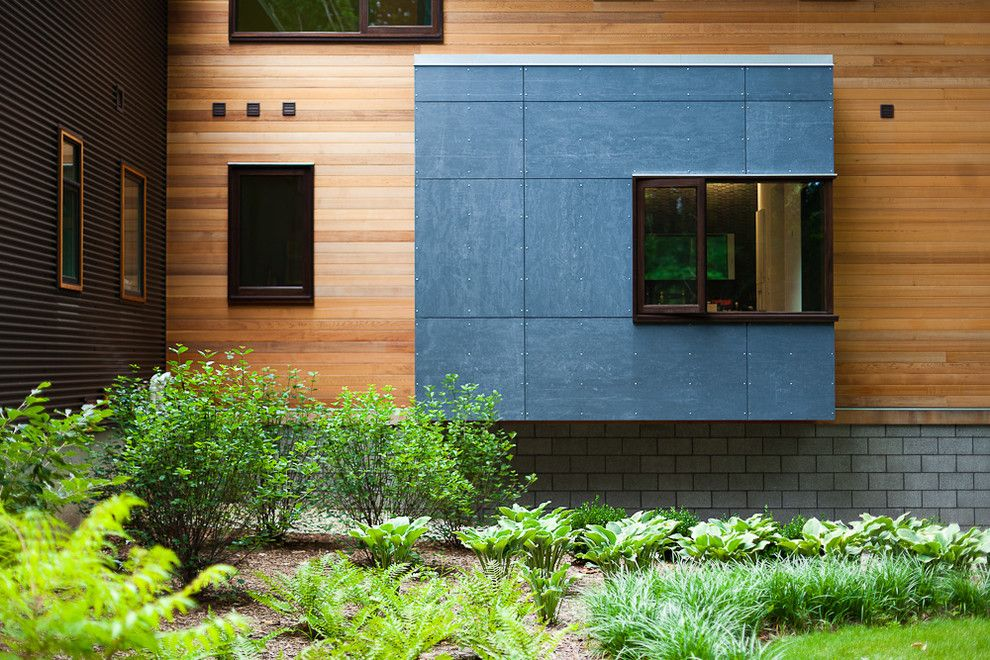 Lowes Cedar Rapids for a Contemporary Exterior with a Steel and Pigeon Creek Residence by Lucid Architecture