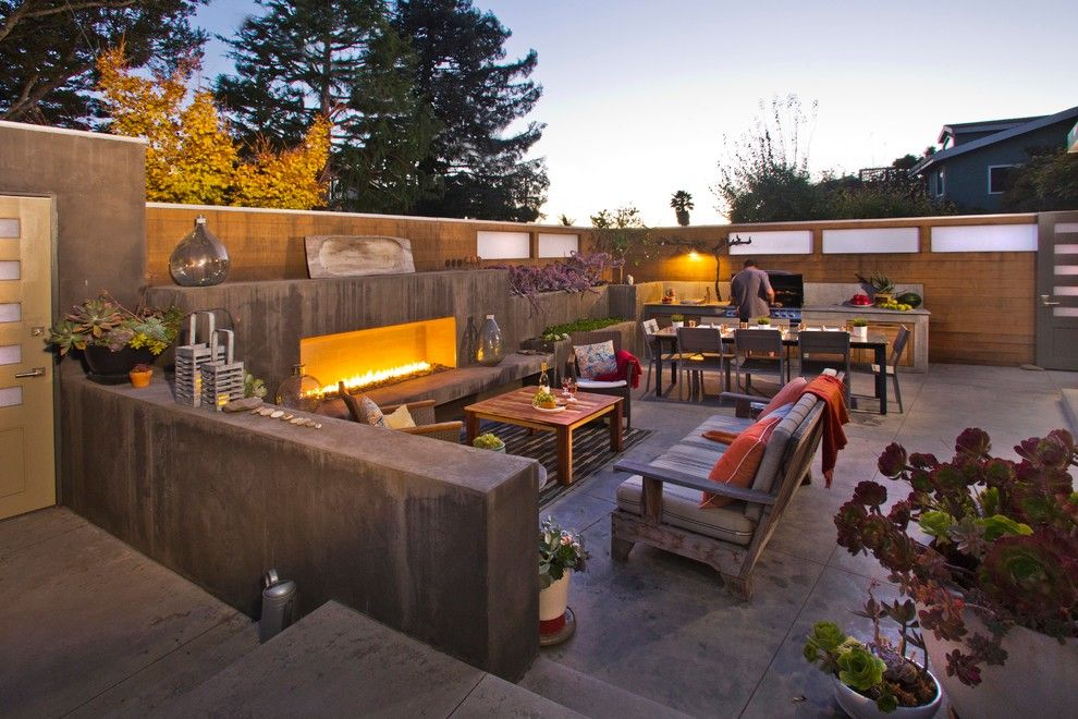 Lowes Cedar Rapids for a Contemporary Patio with a Outdoor Dining and Seacliff Beach Residence by Cayton Design Studio