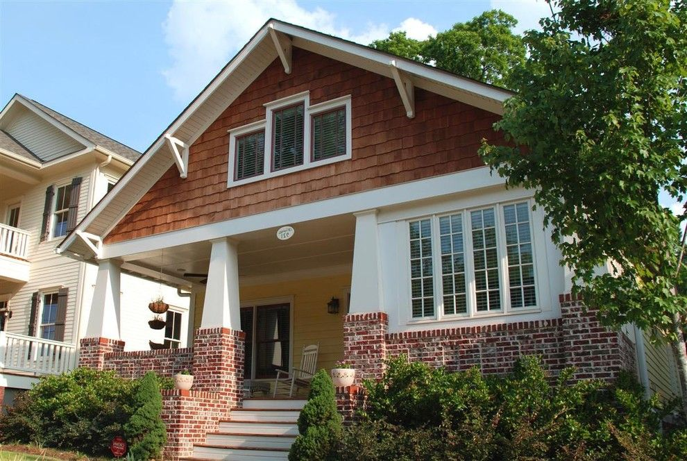 Lowes Cedar Rapids for a Craftsman Porch with a Hanging Plants and the Danube Plan Front Porch by Brooks Ballard