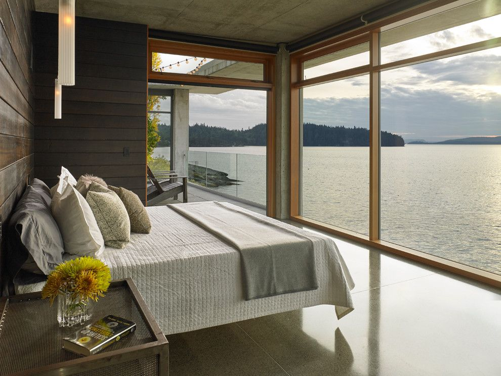 Lowes Chula Vista for a Contemporary Bedroom with a Large Windows and Bay House by Mcclellan Architects
