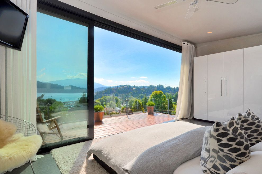 Lowes Chula Vista for a Modern Bedroom with a Deck and Dawna Jones Design by Dawna Jones Design