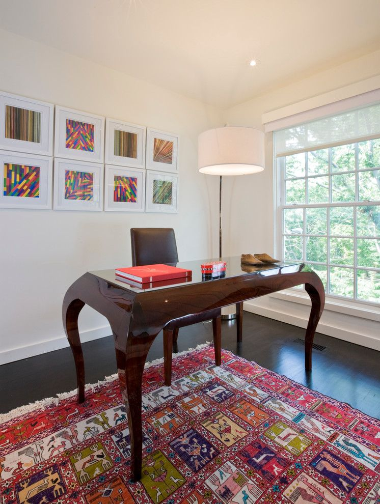 Lowes Citrus Heights for a Contemporary Home Office with a Wall Decor and a Tenleytown Rowhouse by Forma Design