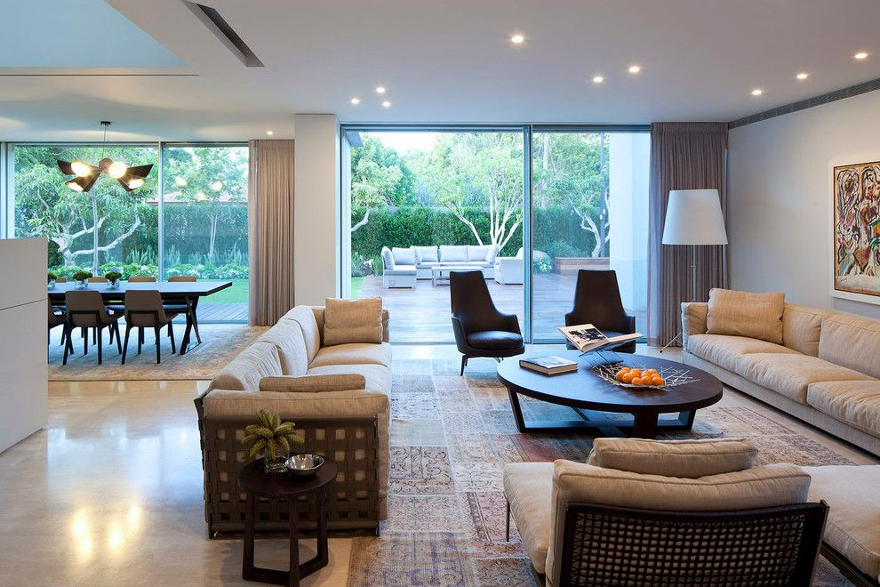 Lowes Citrus Heights for a Contemporary Living Room with a Beige Wall and Ch House Tel Aviv by Domb Architects
