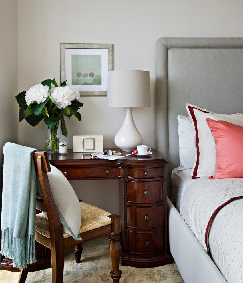 Lowes Citrus Heights for a Traditional Bedroom with a Gray Bed and Trump Tower by Frances Herrera Interior Design