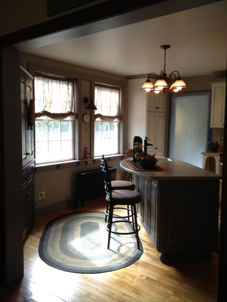 Lowes Concord Nh for a Farmhouse Kitchen with a Perspective of Island and Hutch with Lighting and Bar Stools and Starling, Rollinsford, Nh by Lowe's of Rochester, Nh