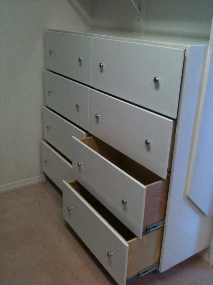 Lowes Dallas for a Traditional Closet with a Custom Easy Slide Drawers and Built Ins by Jb Woodwork