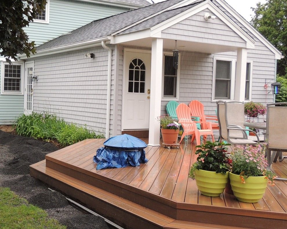 Lowes Danbury Ct for a Eclectic Deck with a Portland Ct Fiberon Decks and Fiberon Horizon Ipe Deck in Portland, Ct by Archadeck of Central Connecticut