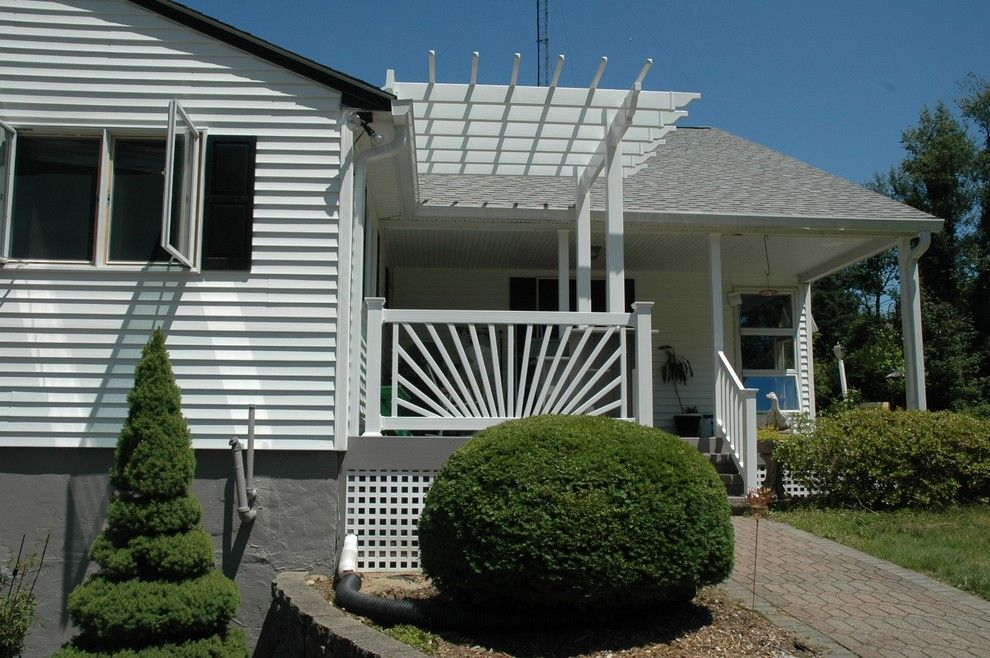 Lowes Danbury Ct for a Eclectic Porch with a Archadeck of Central Ct and Beautiful Burlington,Ct, Azek Porch Deck and Pergola Combination by Archadeck of Central Connecticut