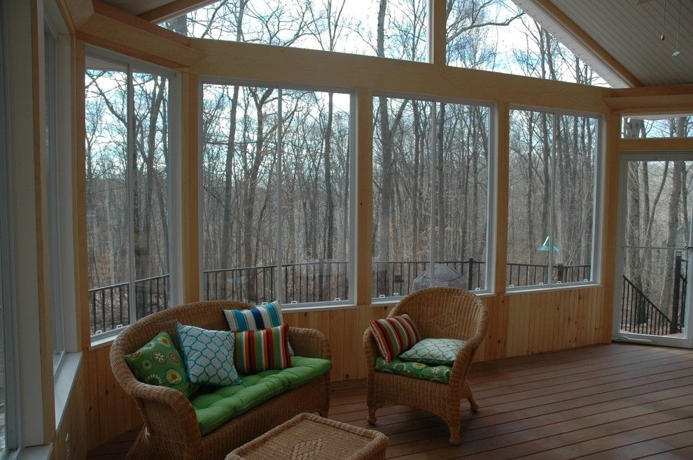 Lowes Danbury Ct for a Traditional Porch with a Interior of Three Season Rooms in Ivoryton Ct and an Outdoor Oasis in Ivoryton, Ct Serves as an Outdoor Getaway by Archadeck of Central Connecticut