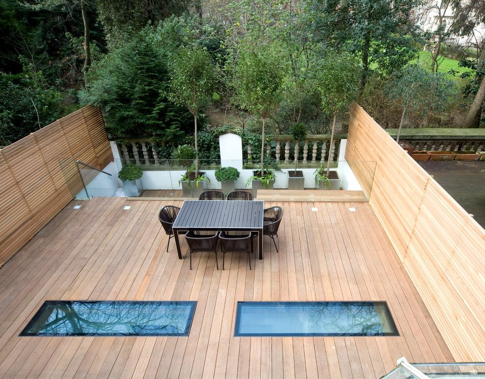 Lowes Deck Builder for a Contemporary Deck with a Patio Dining Table and Knightsbridge Flat London by Simon Warren Photographer