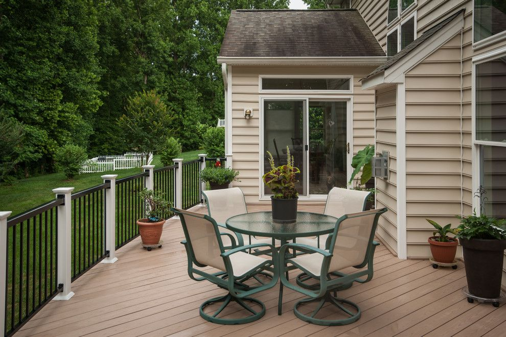 Lowes Deck Builder for a Traditional Deck with a Cultured Stone and Owings Nor by Fine Decks Inc