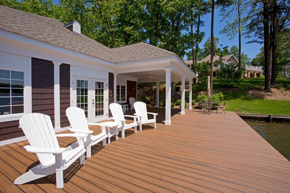 Lowes Deck Builder for a Traditional Deck with a White Adirondack Chairs and Boathouse by Kohlmark Architects and Builders