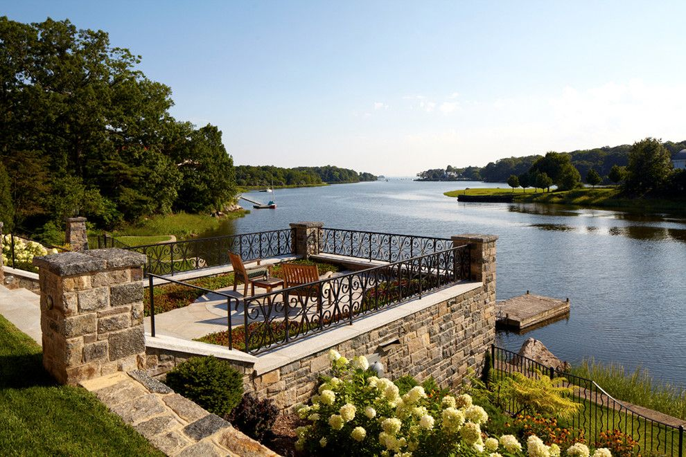 Lowes Deck Builder for a Transitional Exterior with a Dock and Greenwich Residence by Leap Architecture