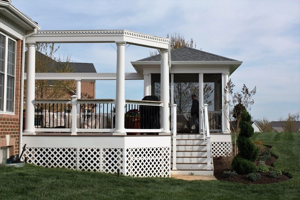 Lowes Deck Designer for a Traditional Deck with a Cool Deck and Low Maintenance Deck Stairs and White Pvc Trim for Low Maintenance Deck by Design Builders, Inc.
