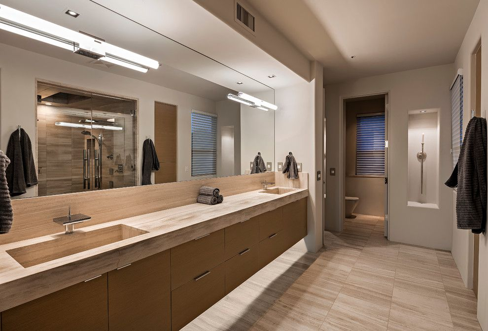 Lowes Door Installation for a Contemporary Bathroom with a Contemporary and New Contemporary at Rose Quartz / Desert Mountain by Thompson Photographic