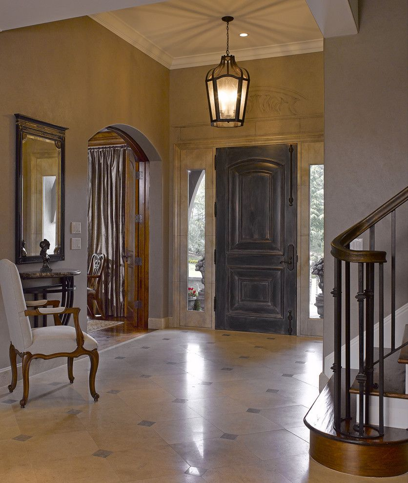 Lowes Door Installation for a Traditional Entry with a Entry and California Maison by Bruce Kading Interior Design