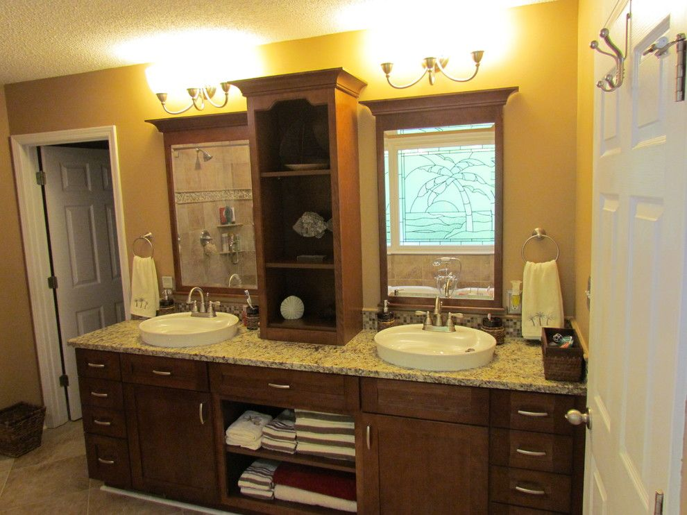 Lowes Greenwood Sc for a Traditional Bathroom with a Traditional and Kraftmaid Sonata Cherry   Harris by Lowes of Indian Land, Sc