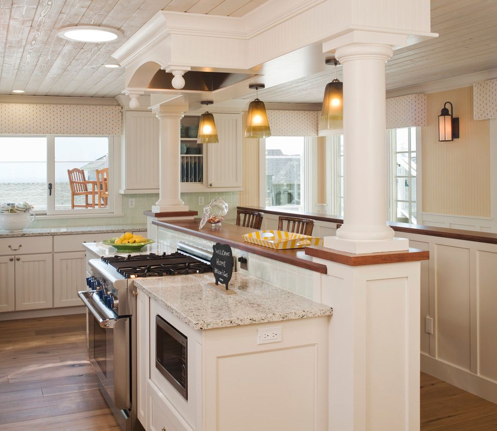 Lowes Hampton Va for a Beach Style Kitchen with a Cornice Boxes and Beach House   Cardiff by the Sea by Bigelow Interiors, Llc
