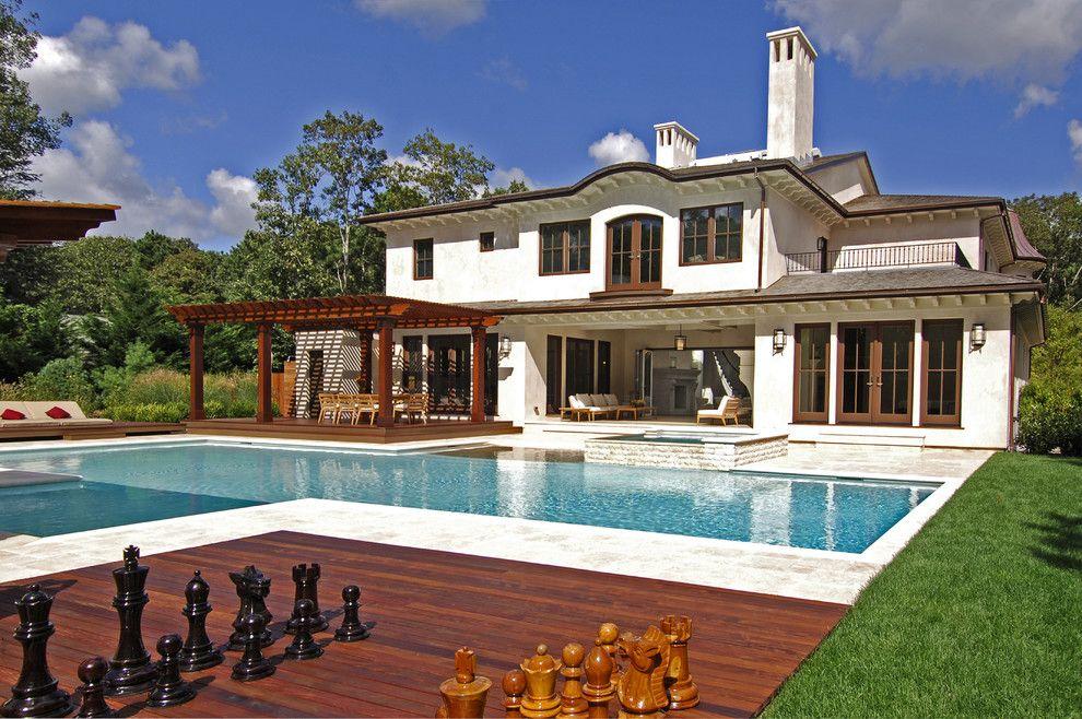 Lowes Hampton Va for a Mediterranean Exterior with a Gunite Pool and European Hampton Villa by Perello Building Corporation