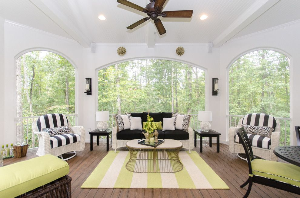 Lowes Hampton Va for a Traditional Porch with a Green Accents and