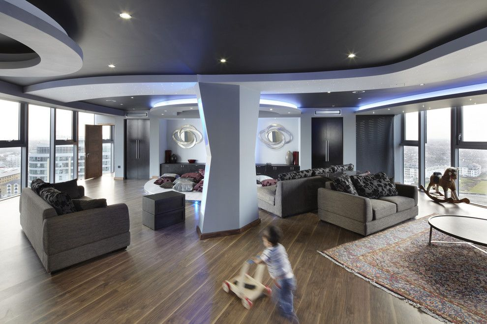 Lowes Hemet for a Contemporary Living Room with a Low Coffee Table and One World Design by One World Design Architects