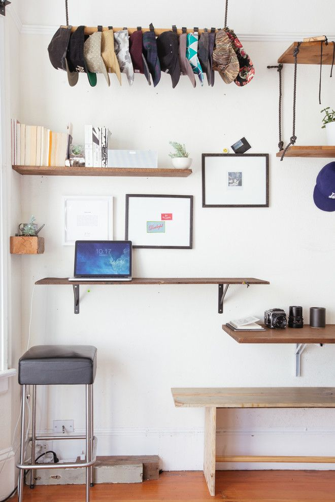 Lowes Huber Heights for a Eclectic Home Office with a White Wall and My Houzz: 2 Tools + 1 Resourceful Guy = Lots of Great 'New' Furniture by Nanette Wong