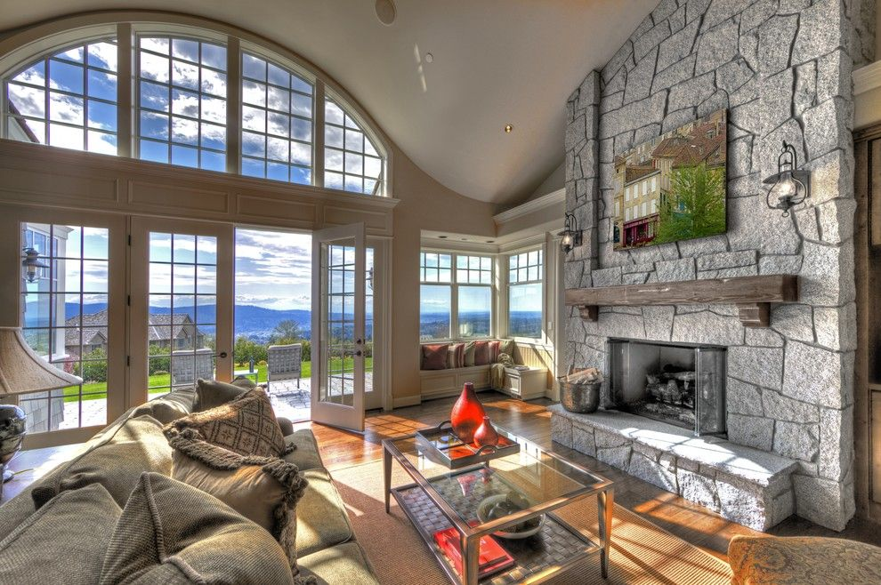 Lowes Issaquah for a Contemporary Family Room with a French Door and Our Top 20 Favorite Fireplaces by Gelotte Hommas Architecture