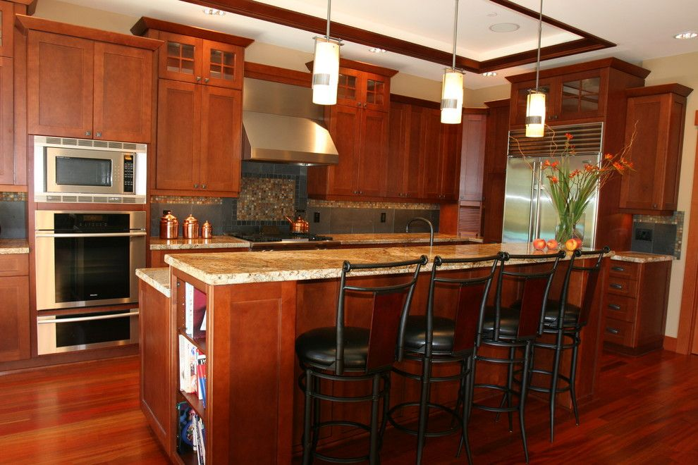 Lowes Issaquah for a Craftsman Kitchen with a Custom Home and Issaquah Custom Craftsman Home by Estate Homes Inc