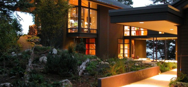 Lowes Issaquah for a Rustic Exterior with a Gravel and Orcas Island Home by Jeff Luth - Soldano Luth Architects