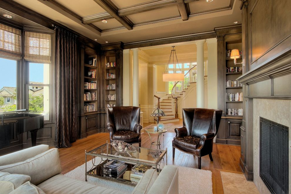 Lowes Issaquah for a Traditional Living Room with a Wood Floor and Issaquah Highlands Residence by Hilary Young Design Associates