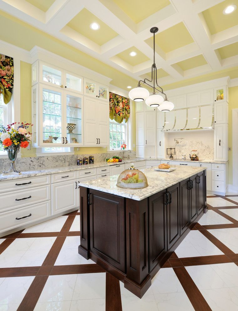 Lowes Labor Day Sale for a Traditional Kitchen with a Coffered Ceiling and Century Home Kitchen - University City, MO by Marcia Moore Design